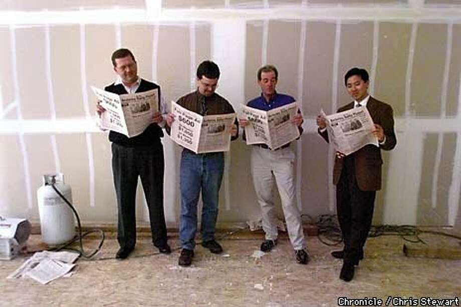 Berkeley newspaper founders (from left) Ron Mix, Dave Danforth, Rob Cunningham and Arnold Lee. Chronicle Photo by Chris Stewart