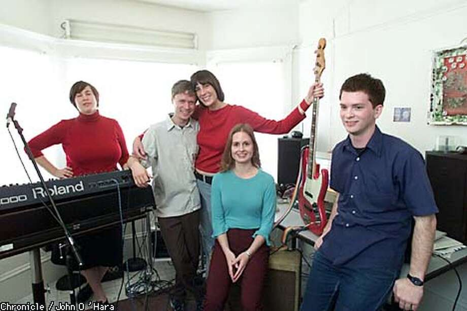 Members of the San Francisco pop band Call and Response rehearsed in a Berkeley studio before they took off for Austin's South by Southwest music conference. Chronicle photo by John O'Hara