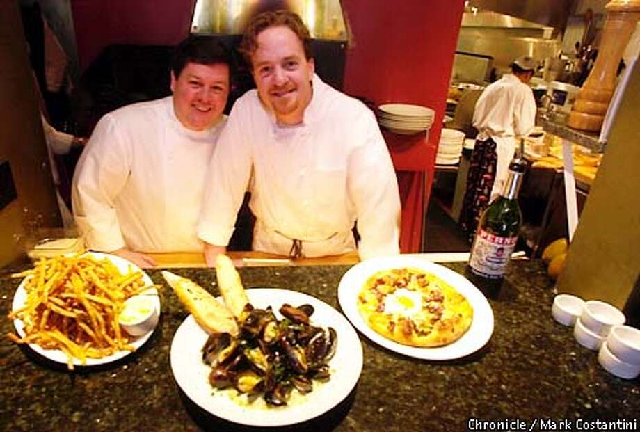 ACOTE14a-C-01MAR01-PK-MC. (l-r)Executive chef /co-owner Chris Rossi and Matt Colgan, Chef de Cuisine of A COTE restaurant on College Ave. in Oakland. Photo: Mark Costantini/SF Chronicle. Photo: MARK COSTANTINI