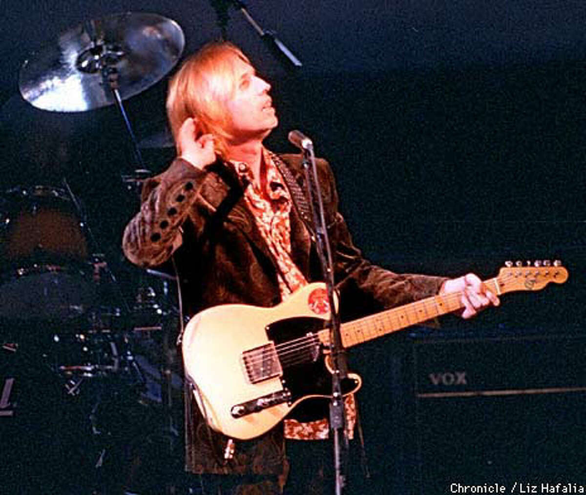 Tom Petty and the Heartbreakers played a 20-show run in 1997 at the Fillmore. Chronicle Photo by Liz Hafalia