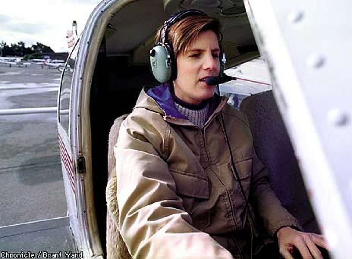 Civil Air Patrol Lieutenant Colonel Wendy Holforty of Mountain View is studying to be an astronaut. Chronicle Photo by Brant Ward