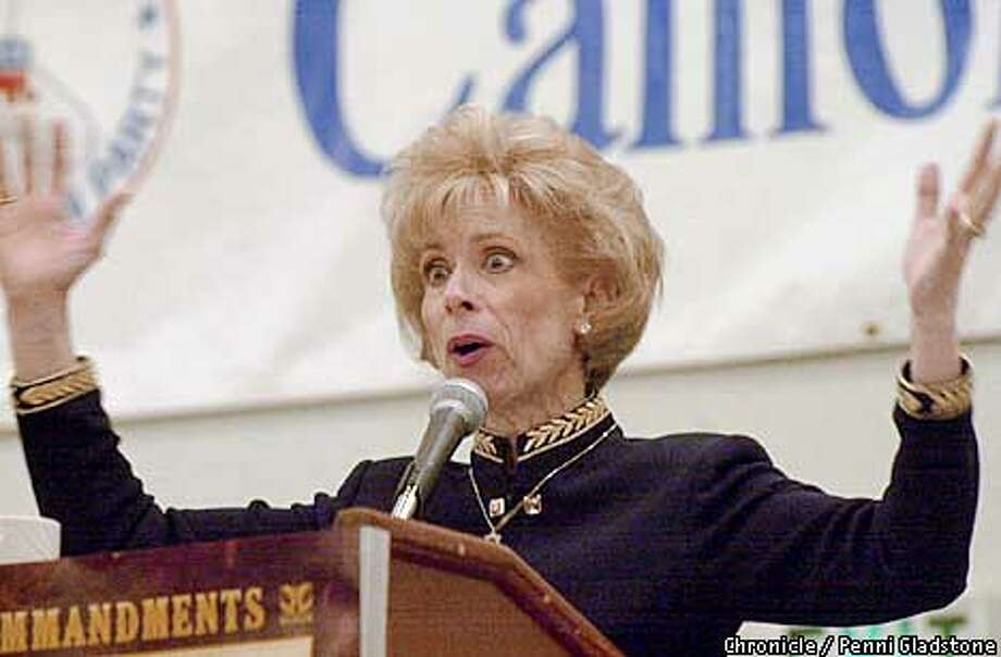 Dr. Laura Schlessinger speaking at the prayer breakfast on the last day of  three-