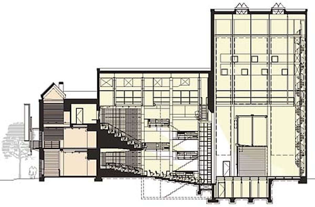 A cutaway view of the new theater. Chronicle Graphic