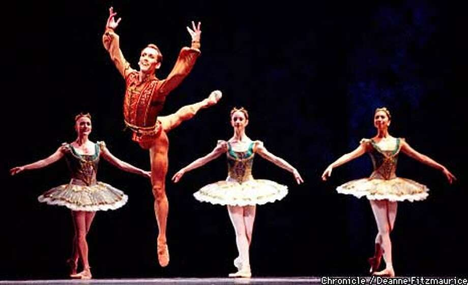 "Parrish Maynard danced one of the leading roles in Helgi Tomasson's ""Haffner Symphony,"" which opened the San Francisco Ballet program. Chronicle Photo by Deanne Fitzmaurice"