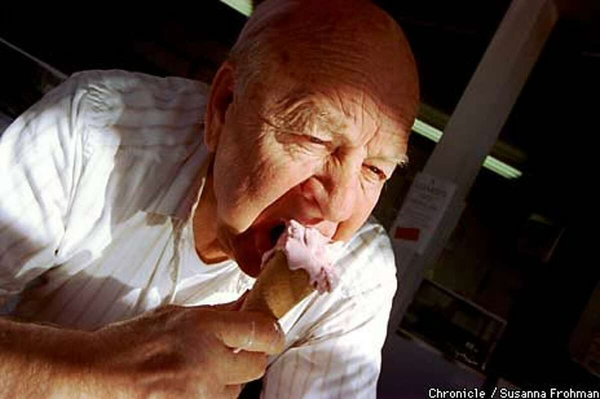 Russell Salyards, 81, opened Loard's Ice Cream Shop in 1950 with John Low. The Oakland shop's name is a combination of the men's surnames. Chronicle Photo by Susanna Frohman