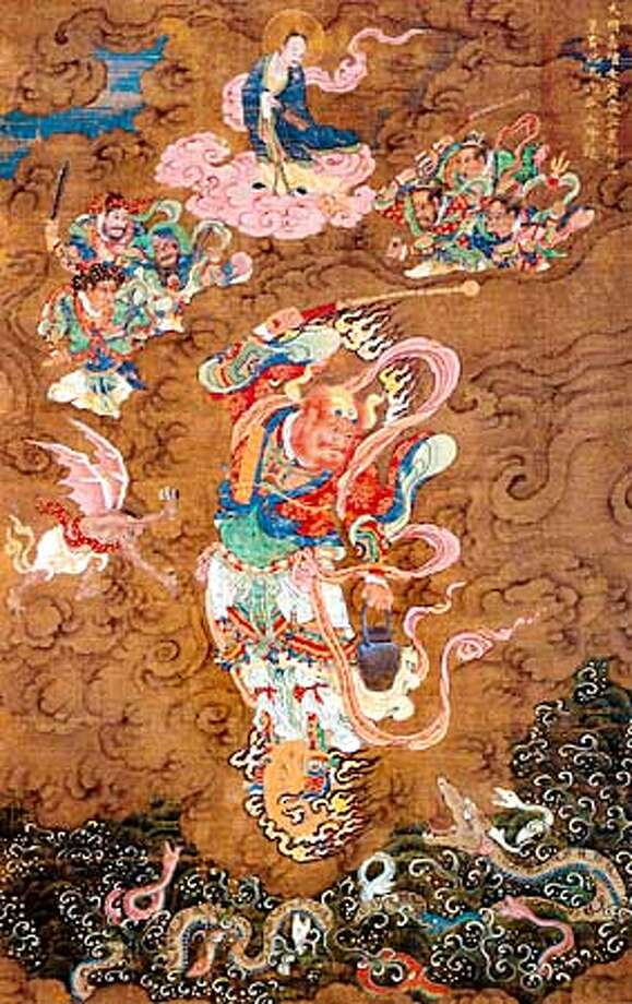 Cat. no. 88: Marshal Wang, Ming dynasty, Jiajing reign, dated 1542, hanging scroll; ink and colors on silk, The Metropolitan Museum of Art, New York