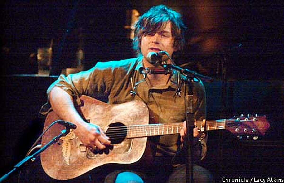Singer songwriter Ryan Adams performs at The Great American Music Hall, in San Francisco, during his solo tour, Sat. Feb.17,2001. Photo By Lacy Atkins/San Francisco Chronicle