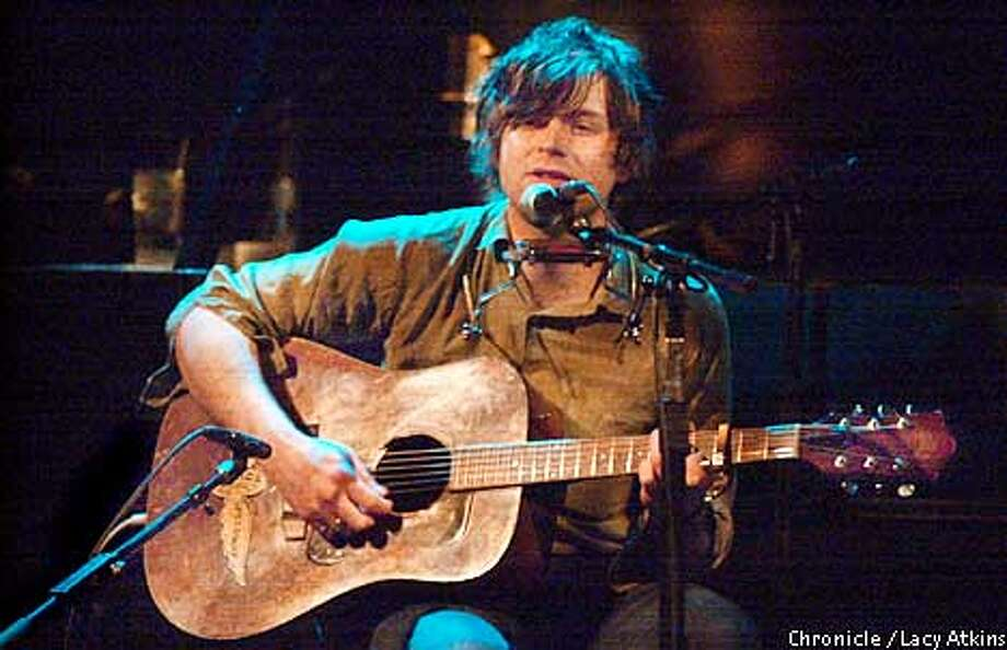 Singer songwriter Ryan Adams performs at The Great American Music Hall, in San Francisco, during his solo tour, Sat. Feb.17,2001. Photo By Lacy Atkins/San Francisco Chronicle Photo: Lacy Atkins