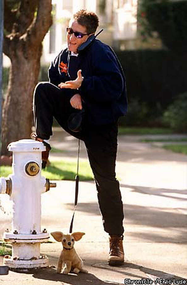 Carlos Alazraqui, near his San Francisco home, says he lucked out when he found the right tone for the Taco Bell Chihuahua Chronicle Photo by Eric Luse