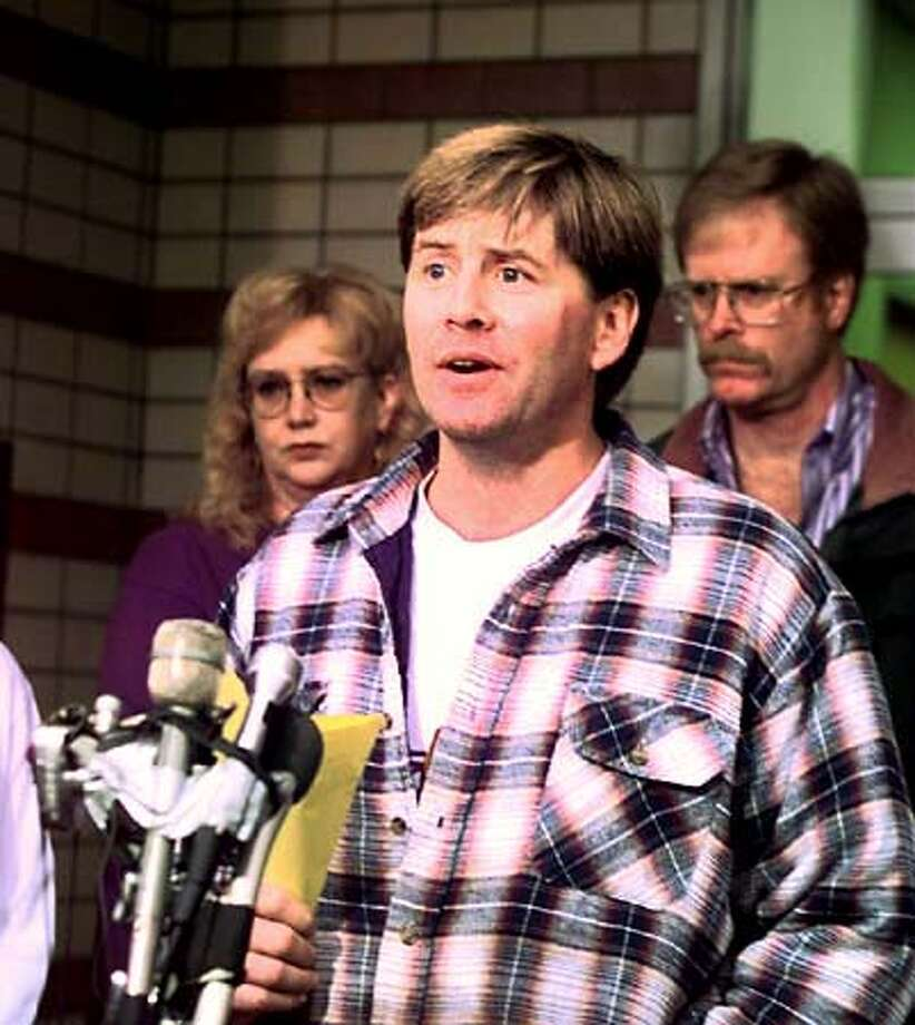 Petaluma, CA. Petaluma Police Station Press conference. Chris Burleson, father of Noe represented his family at this press conf. Spoke to the media. Photo by.........John O'Hara Photo: John O'Hara