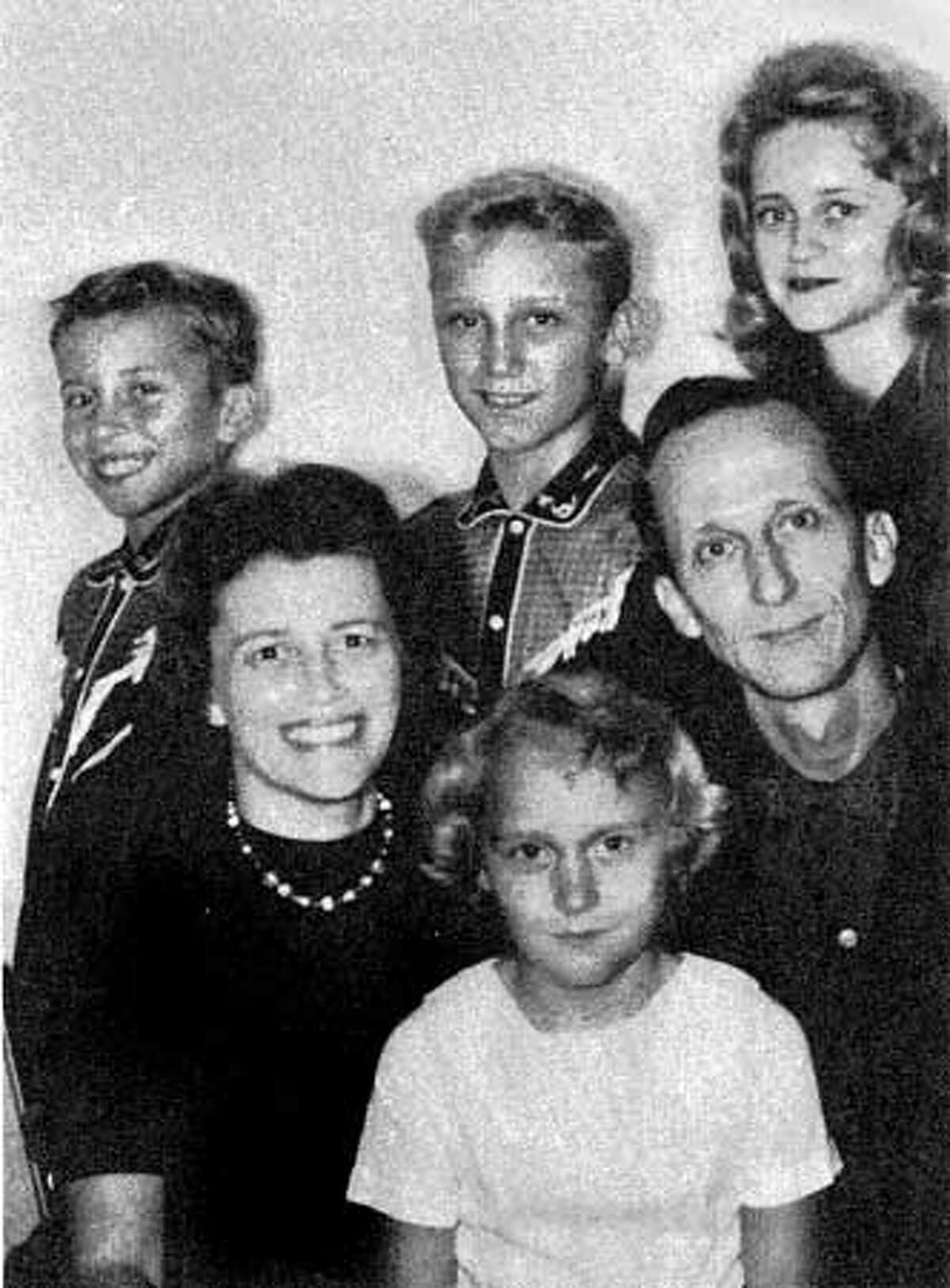 The Berg family in 1961 during their years of evangelism.