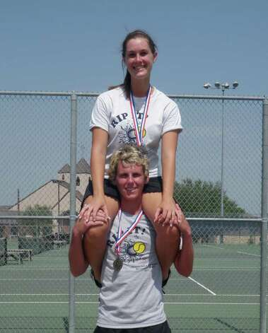 Kirbyville's Dylon Cox and Kaitlyn Green are going to the Class 3A state tennis tournament in mixed doubles Photo: Courtesy Photo