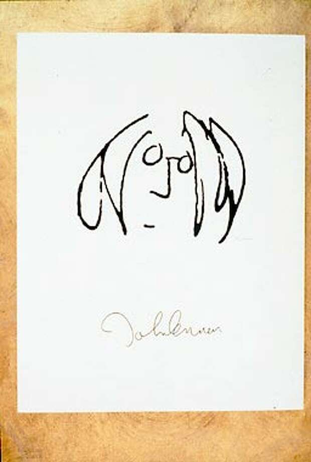 John Lennons Self Portrait Is In The Exhibition Real Love Artwork Of