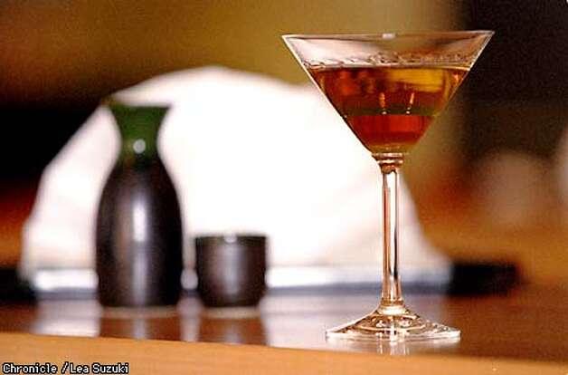 A sake martini at Z bar at the Nikko Hotel. Photo By Lea Suzuki Photo: LEA SUZUKI
