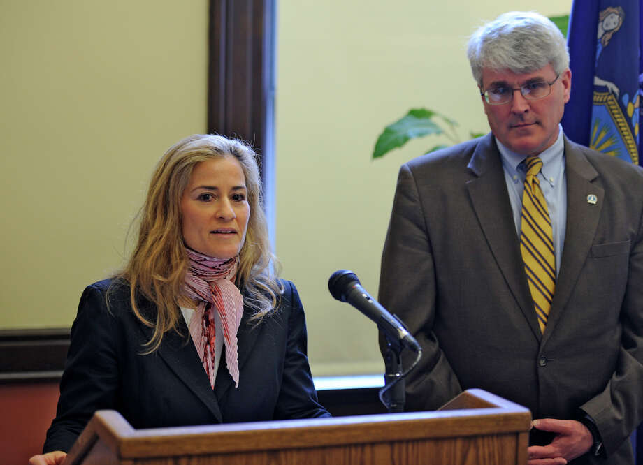 Ellen Biben is shown in this 2011 file photo with Rensselaer County District Attorney Richard McNally. Biben is stepping down as executive director of the Joint Commission on Public Ethics.     (Skip Dickstein / Times Union archive) Photo: Skip Dickstein / 00012767A