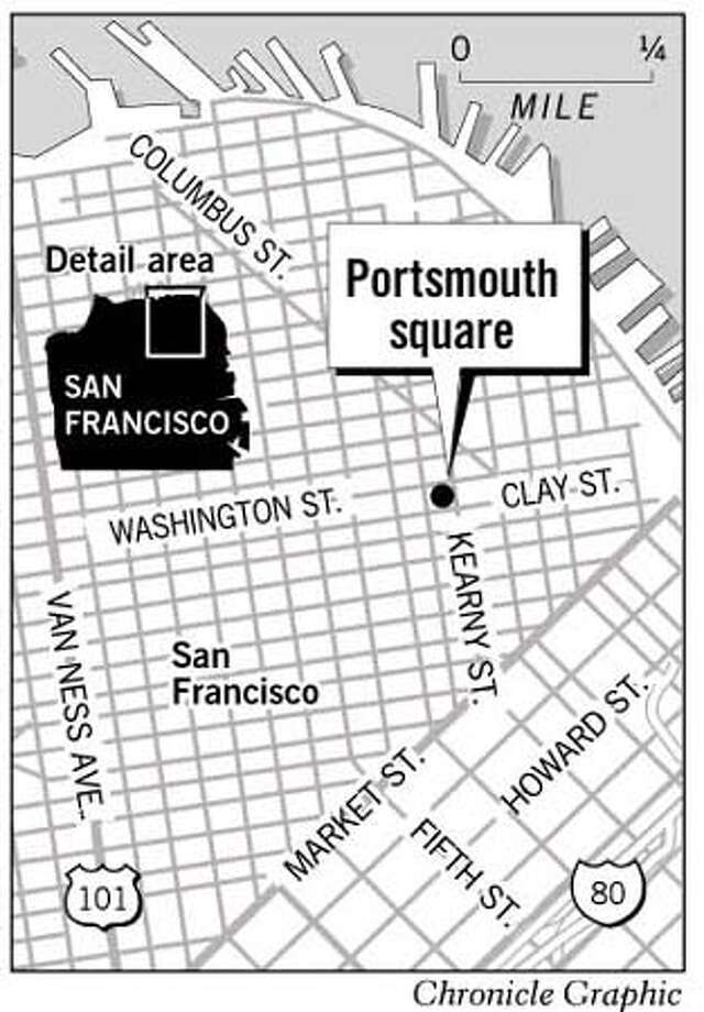 Portsmouth Square. Chronicle Graphic