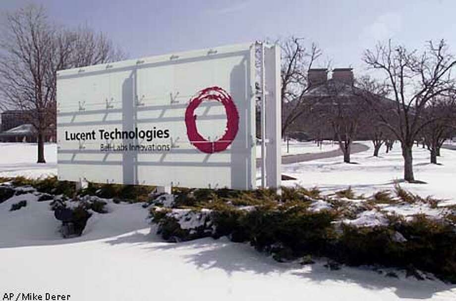 Lucent Technologies headquarters in Murray Hill, N.J., is shown Wednesday, Jan. 24, 2001. The troubled telecommunications giant on Wednesday reported an net loss of $1.02 billion from continuing operations in its first fiscal quarter and announced plans to cut about 10,000 jobs. (AP Photo/Mike Derer) Photo: MIKE DERER
