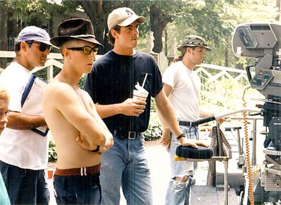 "Director David Gordon Green (second from left) and his crew shot the independent film ""George Washington"" in CinemaScope. Courtesy photo"