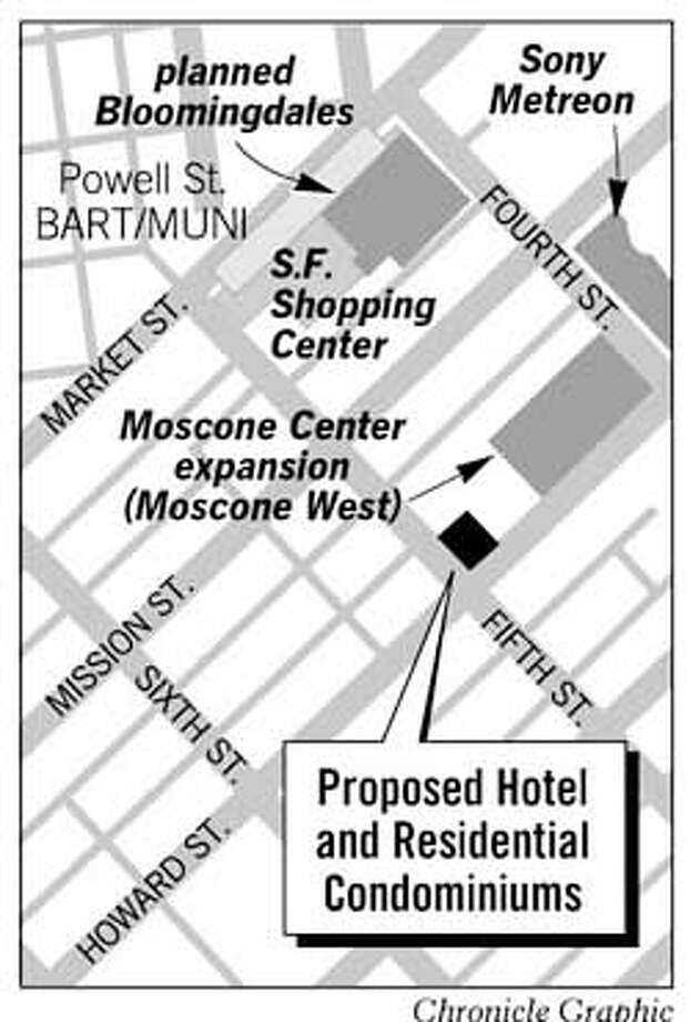 Proposed Hotel and Condominiums. Chronicle Graphic