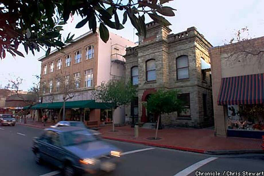 The Napa Valley County Historical Society (center building), at 1219 1st St., Napa. Chronicle photo by Chris Stewart