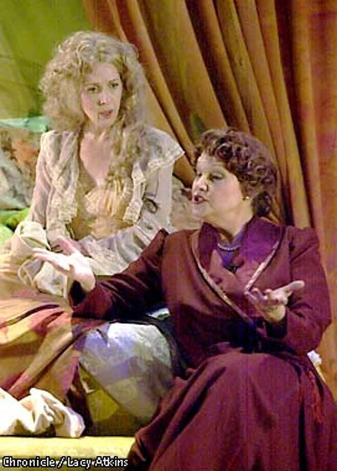 "PARENTS18b-C-10JAN01-DD-LA ---  Yvonne (Deborah Offner) talks to her sister Leonine (Frances Lee McCain) in the play ""Indiscretions"" at the Marin Theatre Company in Mill Valley. Photo By Lacy Atkins/San Francisco Chronicle Photo: Lacy Atkins"