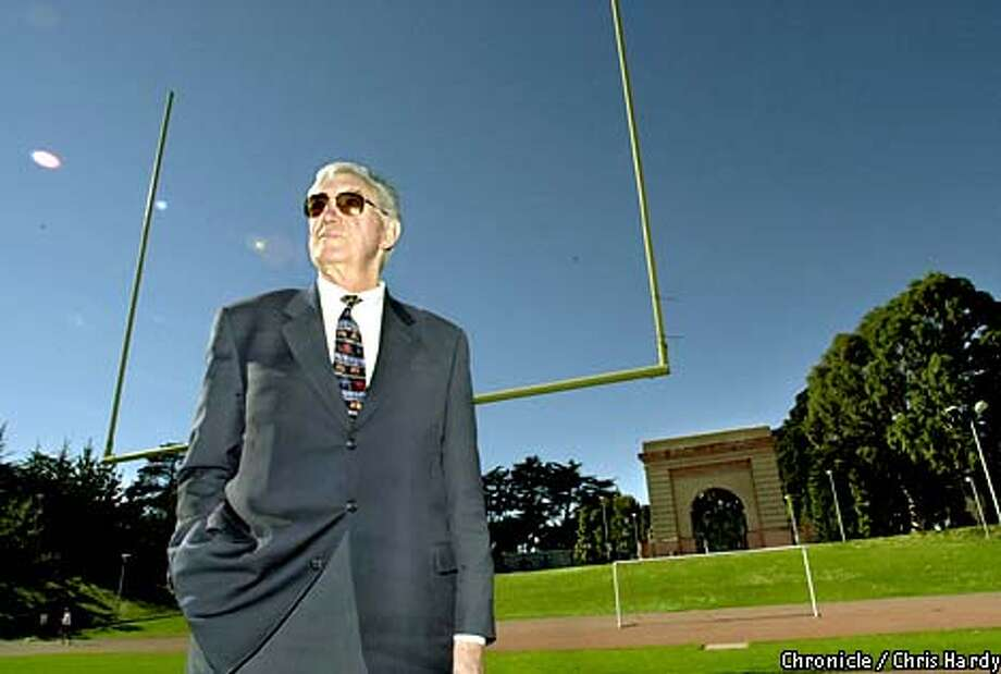 Bob St. Clair's bond with Kezar will be affirmed today when the Board of Supervisors officially names the field after him. Chronicle photo by Chris Hardy