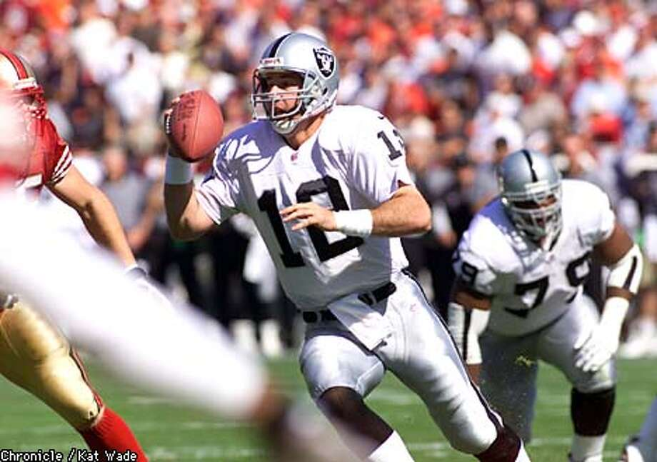 Rich Gannon surpassed the Raiders' hopes, but how much longer can the 35-year-old continue? Chronicle photo by Kat Wade