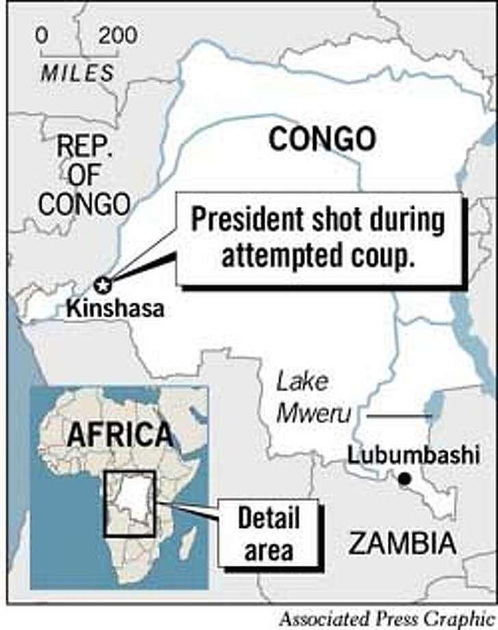 Kinshasa, Congo. Associated Press Graphic