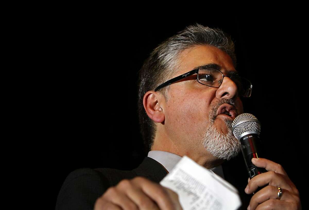 Mayoral candidate John Avalos thanks his supporters at Roccapulco in San Francisco, Calif., Wednesday, November 9, 2011.