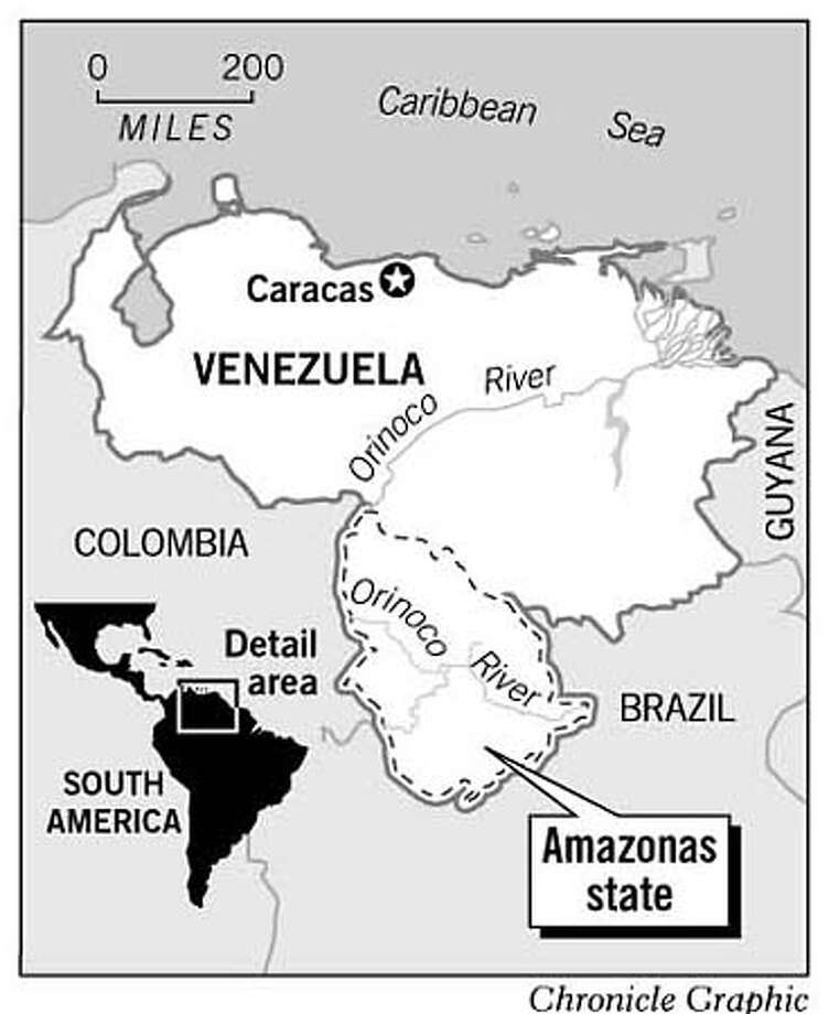 Venezuala's Amazonas State. Chronicle Graphic