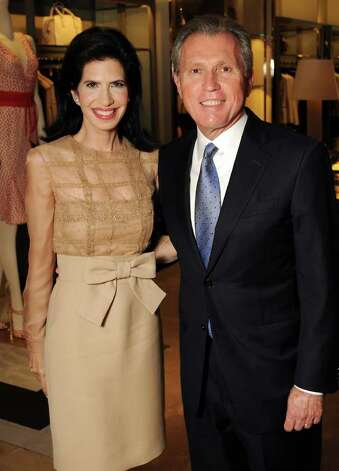 Honoree Kelli Cohen Fein (in Valentino) and her husband Martin Fein Photo: Dave Rossman / © 2012 Dave Rossman