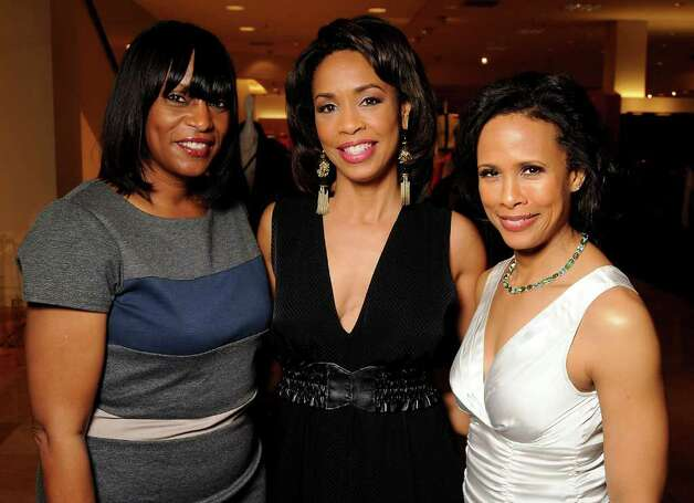 Gail Brown, from left, honoree Gina Gaston Elie (in Chloe) and Angela Rae Photo: Dave Rossman / © 2012 Dave Rossman