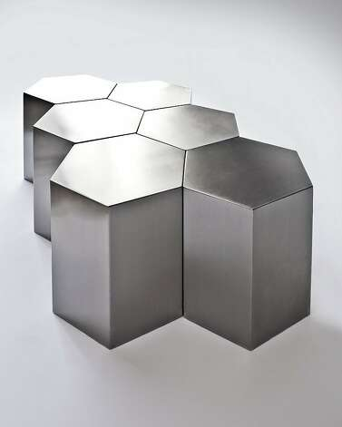 Hex Tables by New York-based Incorporated. Photo: Incorporated