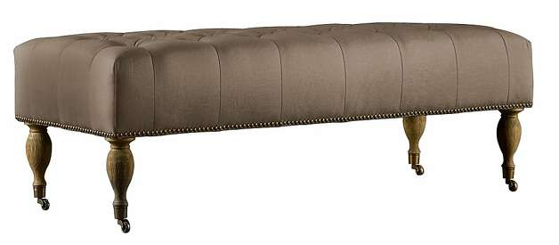 Restoration Hardware tufted bench. Photo: Restoration Hardware