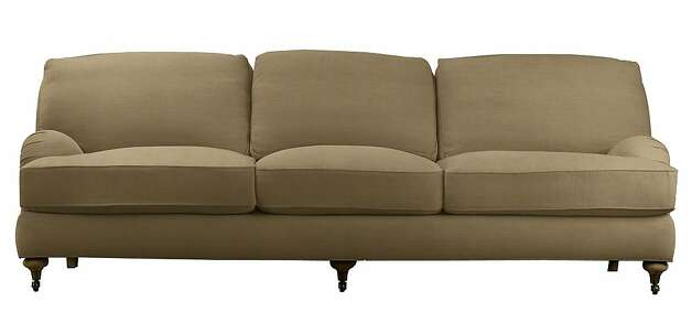 Velvet English Roll-Arm sofa by Restoration Hardware. Photo: Restoration Hardware