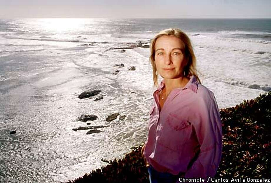 Lilli Schad of Montara produced a documentary on Half Moon Bay's surfing sweet spot, Maverick's, which she titled the film. The film took six years to make, and was mostly-independently financed. (CHRONICLE PHOTO BY CARLOS AVILA GONZALEZ) Photo: CARLOS AVILA GONZALEZ