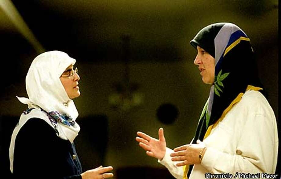 In preparation of the upcoming Ramadan Holiday meeting in the home of Ameena Jandali, left and American Muslim Lorraine Al-Rawi, right. by Michael Macor/The Chronicle Photo: MICHAEL MACOR