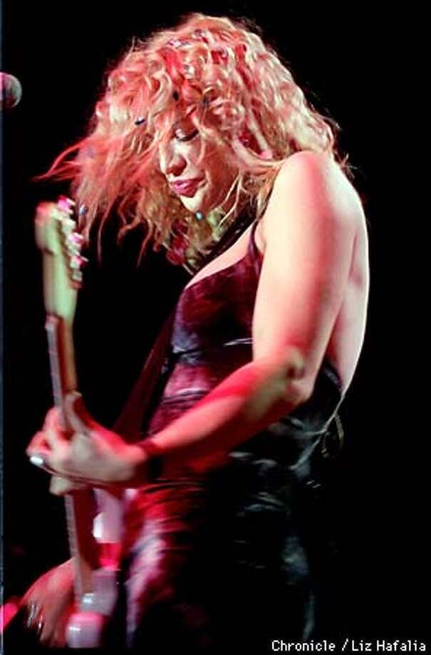 Courtney Love and her band, Hole, play at the Event Center at San Jose State University. Photo by Liz Hafalia Photo: LIZ HAFALIA