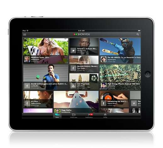 An image of the video sharing app ShowYou for iPad. Photo: ShowYou