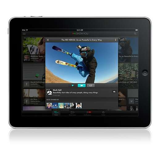 An undated image of the video sharing app ShowYou for iPad. Photo: ShowYou