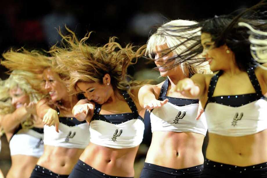 The San Antonio Spurs Silver Dancers perform during a timeout at the AT&T Center on Thursday, Feb. 2, 2012.  Billy Calzada / San Antonio Express-News