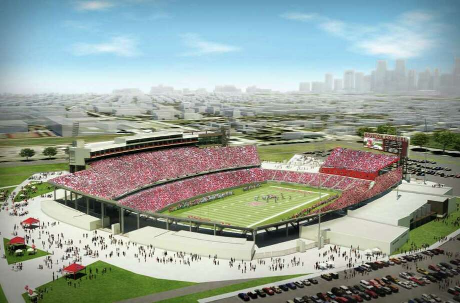 Over the next two-plus years, UH will move from envisioning what its new stadium will look like to enjoying the real thing on the present site of Robertson Stadium. / handout