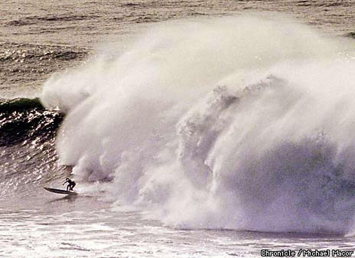 "MAVERICKS 1/C/25JAN97/OT/MACOR Famous surfing location near Half Moon Bay. ""Mavericks"" draws some of the best big wave riders in the world. Chronicle Photo: Michael Macor"