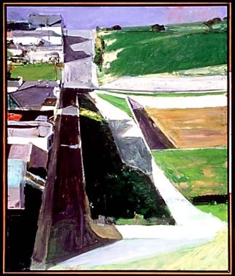 """Cityscape I"" by Richard Diebenkorn, 1963. Oil on canvas.  HANDOUT Photo: HANDOUT"