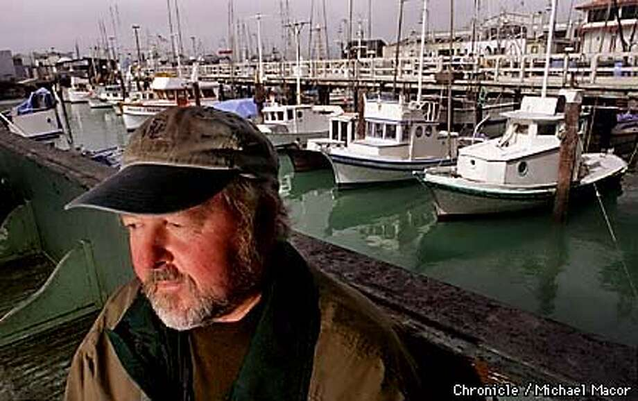 """KOEPF/C/14SEP98/DD/MAC Local writer Michael Koepf has just completed a new novel """" The Fisherman's Son"""" about a boy's apprenticeship to his hard-luck fisherman father on California's northern coast. BY MICHAEL MACOR/THE CHRONICLE Photo: MICHAEL MACOR"""