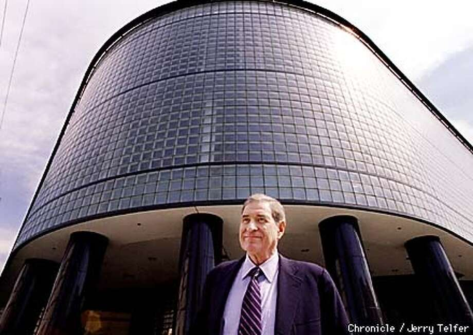 Dolby Labs founder Ray Dolby in front of the former SF Diamond Exchange building at 9th & Brannan Streets. Expanding from its Potrero Avenue headquarters, Dolby Labs is the new occupant of the site. 999 Brannan Street  BY JERRY TELFER/THE CHRONICLE Photo: JERRY TELFER