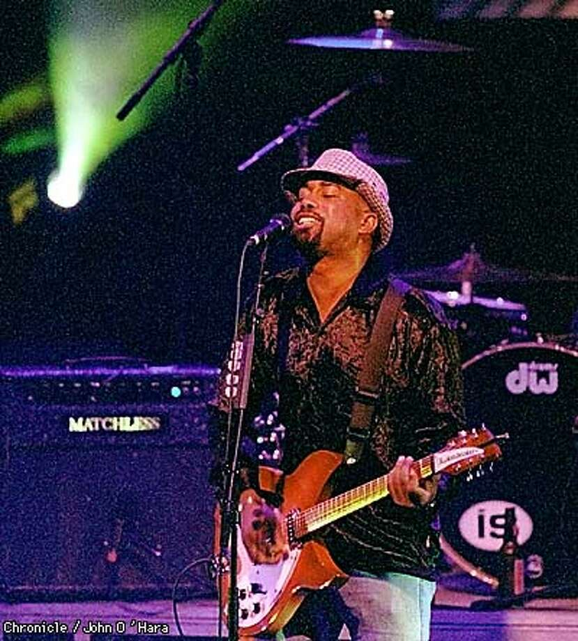 Darius Rucker of Hootie and the Blowfish sang during the bands performance at the Fillmore Auditorium Monday night.  BY JOHN O'HARA/THE CHRONICLE Photo: JOHN O'HARA