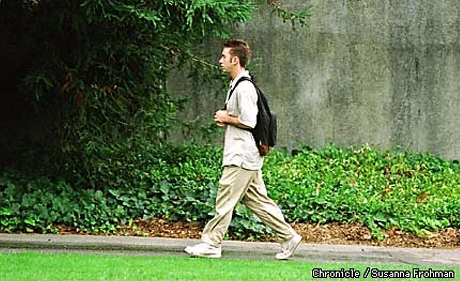 David Cash walks on the UC Berkeley campus Tuesday after an early-morning Organic Chemistry class in the Valley Life Sciences Building. (CHRONICLE PHOTO BY SUSANNA FROHMAN) Photo: SUSANNA FROHMAN