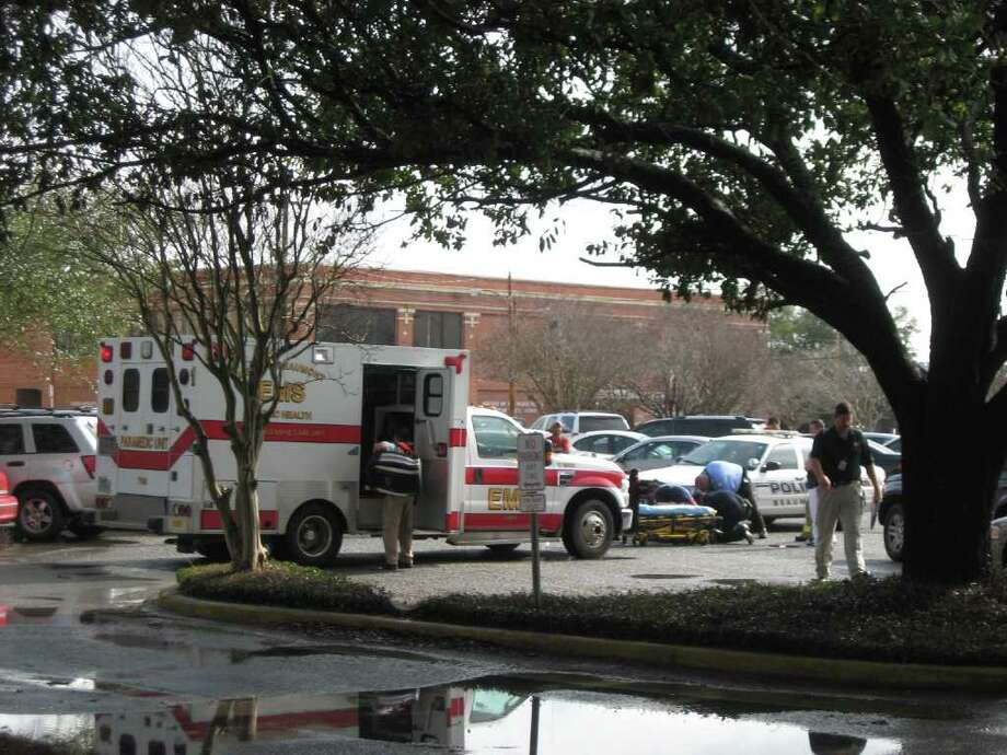 A man was hit by a car Friday morning in the parking lot of the Jefferson County Courthouse. Photo: Jessica Lipscomb