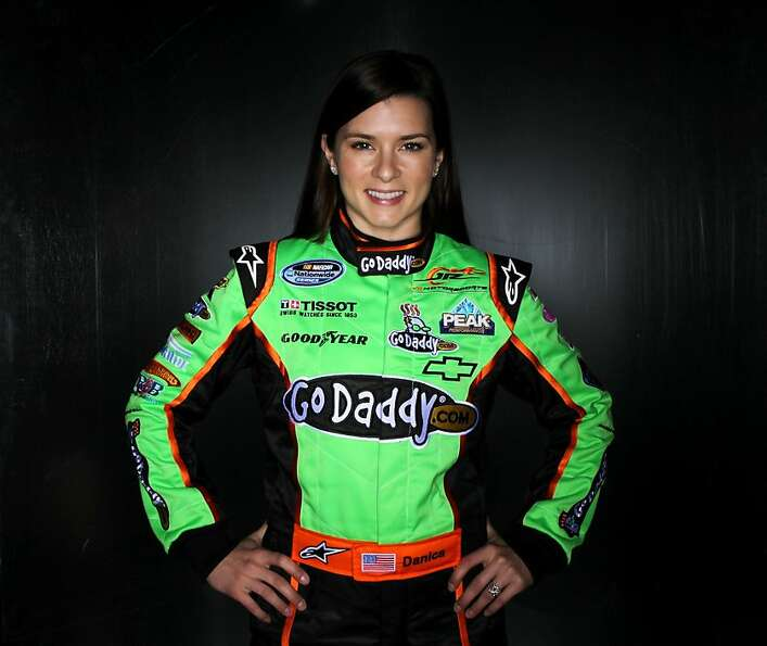 DAYTONA BEACH, FL - FEBRUARY 10:  Danica Patrick, driver of the #7 GoDaddy.com Chevrolet, poses duri